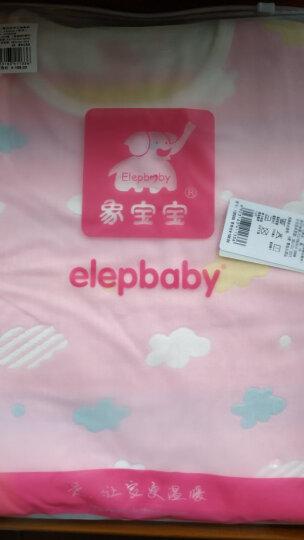 象宝宝(elepbaby)婴儿睡袋儿童睡袋夏季薄款透气新生儿宝宝3层纱布无袖背心睡袋80X45CM粉色 晒单图