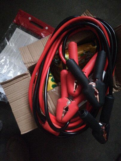 沿途 汽车电瓶搭线 纯铜 4米 搭火线带过载保护器+提示灯 启动电源搭电线夹子蓄电池连接打火线全铜过江龙N06 晒单图