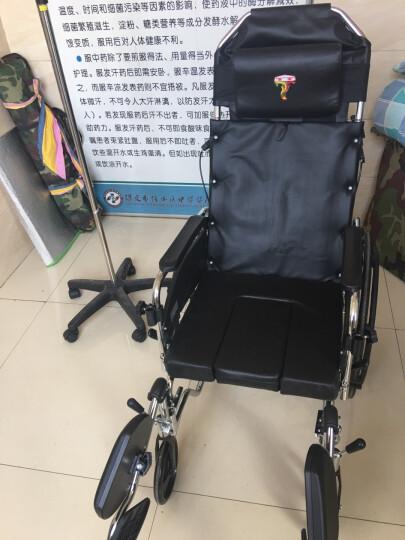 凤凰(Phoenix) 轮椅  折叠  轻便  老人带坐便 可平躺残疾人代步车 608款【配餐板+ 折叠功能+便盆 】 晒单图