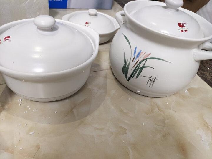 康舒砂锅三件套装 陶瓷煲 汤煲 煲汤粥煲 炖锅土锅汤锅 石锅沙锅 白色4.3L+2.4L+0.6L炖煲 焖锅砂锅三件 晒单图