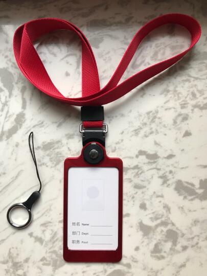 聚物酷 金属工作牌工作证卡套 多功能手机挂绳铝合金挂牌员工牌胸牌证件卡套定制 X01典雅黑 晒单图