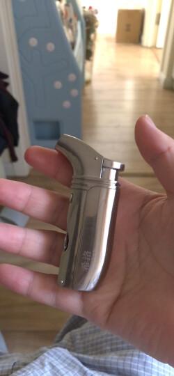 希洛Shiloh 雪茄打火机带雪茄打孔器直冲充气打火机创意个性点烟器 图色1 晒单图
