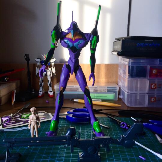 【动漫城】万代(BANDAI) EVA 新世纪福音战士 拼装模型玩具 PG 1/60 初号机 晒单图