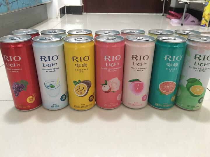 锐澳(RIO)洋酒 预调 鸡尾酒 果酒 本味 5度 275ml*6瓶 (4种口味) 晒单图