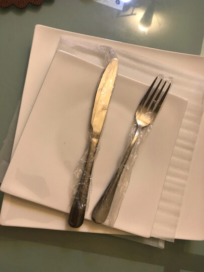 乐享 陶瓷碗盘碟纯白骨瓷8英寸深盘4只装 圆盘西餐盘套装 晒单图