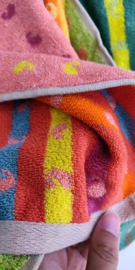 金号毛巾家纺 无捻提缎绣毛巾 柔软吸水 2条装 粉色 78*34cm 95g/条 晒单图
