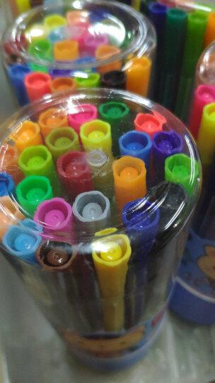 得力(deli)六角细杆水彩笔 儿童可水洗创作画笔 学生绘画彩虹筒 36色/筒 颜色随机7068 晒单图