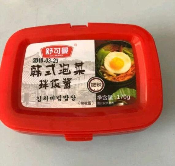 舒可曼 韩式泡菜酱 韩国石锅拌饭酱 年糕辣椒酱170g 晒单图