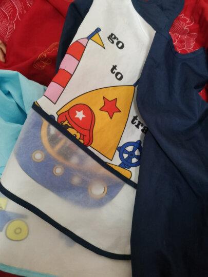 象宝宝(elepbaby)宝宝吃饭罩衣2件装婴儿围兜口水巾儿童饭兜围嘴防水画画衣反穿衣(黄色熊猫+浅蓝小猴) 晒单图