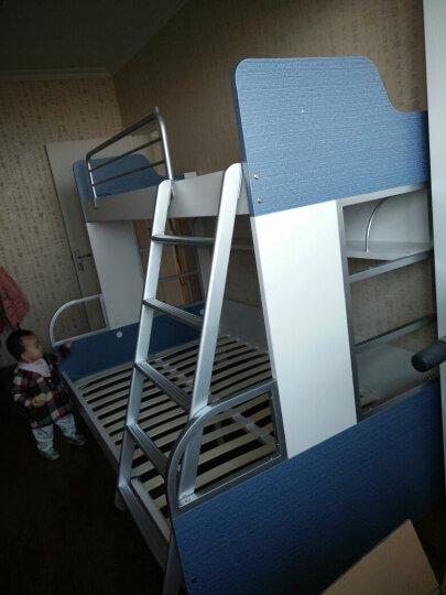 多喜爱儿童家具儿童床子母床上下床高低床牛仔系列W8A122双层床 上下床+拖床 1350*2000mm 晒单图