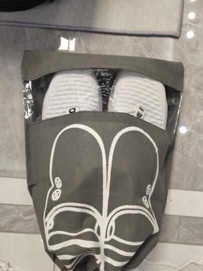 四万公里 旅行鞋袋收纳袋 无纺布8个装防水防尘鞋套盒 抽绳束口手提折叠多功能收纳包袋 SW1231 黄色 晒单图