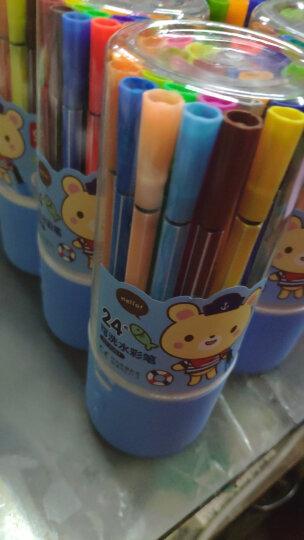 得力(deli)24色可洗水彩笔 可擦彩色绘画涂色颜色玩具 儿童画画 文具美术画材学习用品 收纳筒颜色随机 7067 晒单图