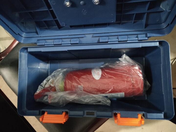 沿途 汽车应急救援工具箱(灭火器1KG、电瓶线、安全锤、拖车绳、手套、工具箱)G-580 晒单图