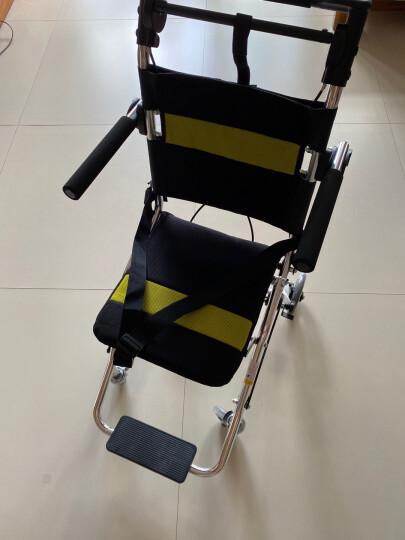 鱼跃(YUWELL) 便携式轮椅 凌跃2000 铝合金老人轻便折叠手推儿童旅行飞机轮椅车 晒单图