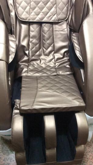 【明星推荐】佳仁(JARE)德国品牌按摩椅4D家用太空舱零重力全身按摩椅电动按摩沙发 升级数码金棕色 晒单图