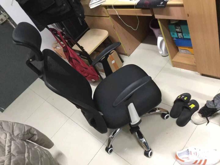 西昊(SIHOO) 人体工学电脑椅子 老板椅 家用座椅转椅 电竞椅 撑腰办公椅 M16 黑色-无头枕 晒单图