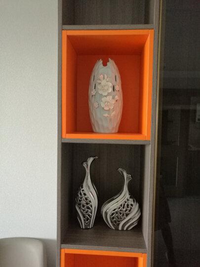 凡赛宫 装饰花瓶摆设现代简欧创意家居装饰摆件 新房酒柜电视柜玄关工艺品装饰品送朋友礼物 对白银凤凰瓶 晒单图