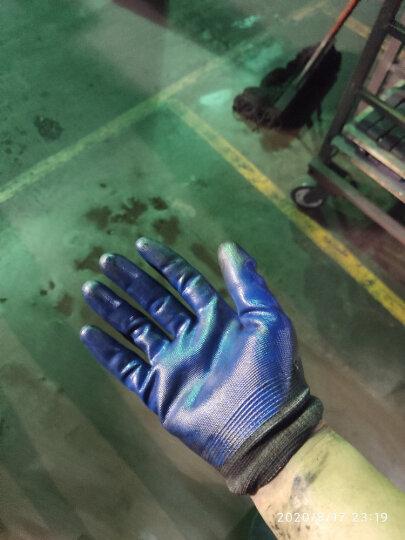 星宇(XINGYU)劳保手套N518 丁晴浸胶防滑耐磨防油防割防水透气涂胶木工纺织机床手套 N518蓝色12副 M码 晒单图