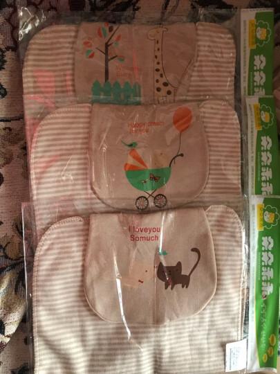 巴特熊(barthebear)婴儿用品儿童纯棉纱布吸汗巾隔汗巾宝宝彩棉垫背巾擦汗巾适合0-4-10岁 6条  彩棉纱布M码 晒单图