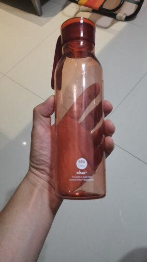 乐扣乐扣(lock&lock)新款运动塑料水杯学生杯便携随手带杯子两件套HLC644S601(550ml*2)绿色+紫色 晒单图