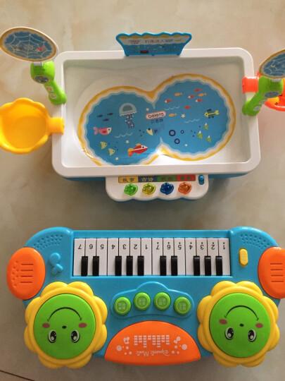 贝恩施(beiens)早教益智玩具 儿童磁性钓鱼玩具电动旋转带音乐可装水套装Y68016蓝色 晒单图