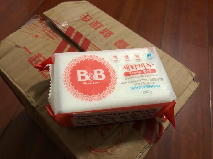 保宁B&B婴幼儿尿布皂儿童洗衣皂宝宝bb肥皂新生儿内衣皂可煮洗洋槐香皂200g*4 (共四块) 晒单图