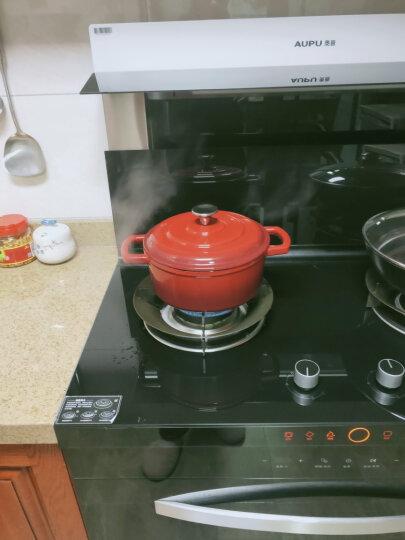 佳佰 珐琅锅 铸铁搪瓷汤锅 平底双耳煲汤炖肉22cm(电磁炉煤气灶通用)红色 晒单图