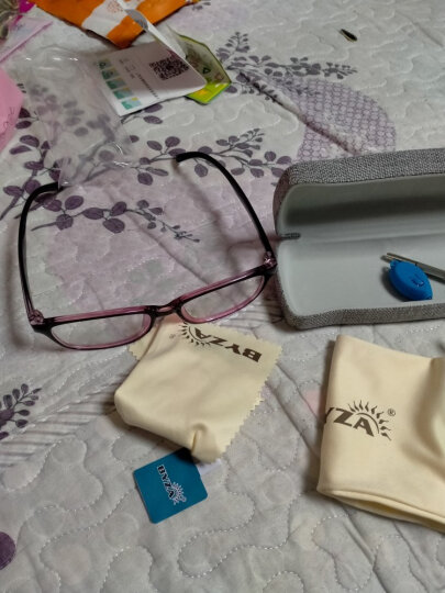 百飒防辐射眼镜防蓝光男士近视眼镜女电脑游戏护目镜男女款平光眼镜框架可配变色近视眼镜男 配1.61防蓝光近视镜片(建议0-600) 晒单图