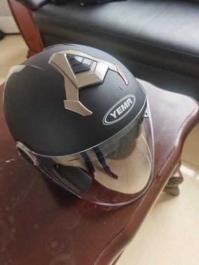野马(YEMA)6623电动车头盔男女士冬季机车安全帽双镜片半盔 四季通用 均码 亚黑配防雾镜片 晒单图