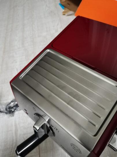 德龙(Delonghi)咖啡机 半自动咖啡机 意式浓缩 家用  复古泵压式不锈钢锅炉 ECO310.VGR 橄榄绿 晒单图