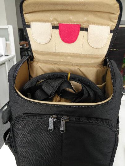 宝罗 单反相机包 单肩摄影包 适用佳能尼康70D 60D D90大号装大机身D3 D4 70-200 BL-1313大号军绿配灰 晒单图