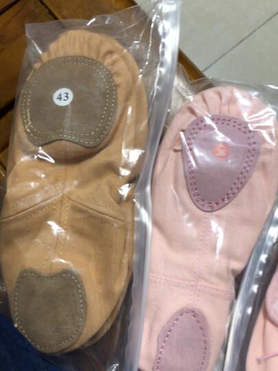 儿童舞蹈鞋女童芭蕾舞鞋成人女猫爪鞋练功鞋肉色中国鞋男童软底鞋 标准布头款-肉色 32 晒单图
