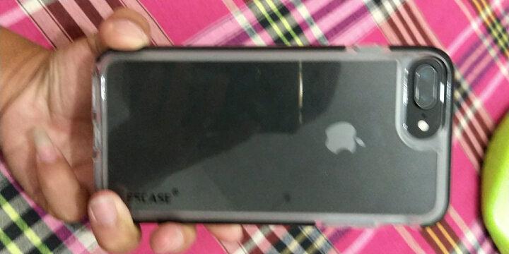 ESCASE 苹果7/8 Plus手机壳 iPhone7Plus手机套 双色抗震全包硅胶软套彩色边框四角防摔2米ES-78曜石黑 晒单图
