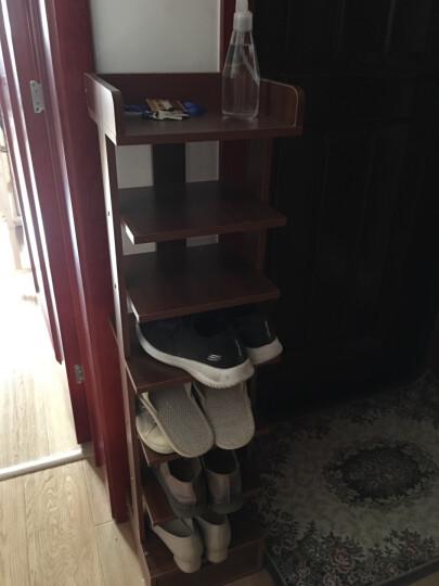 乐巴士 鞋架简易家用多层经济型防尘木鞋架门口鞋架省空间鞋柜多功能鞋架 尼亚美胡桃八层 晒单图