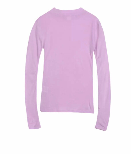 Basic House/百家好春秋季新款T恤 纯色长袖基本款T恤衫女HRTS121A 麻灰色 160/S 晒单图