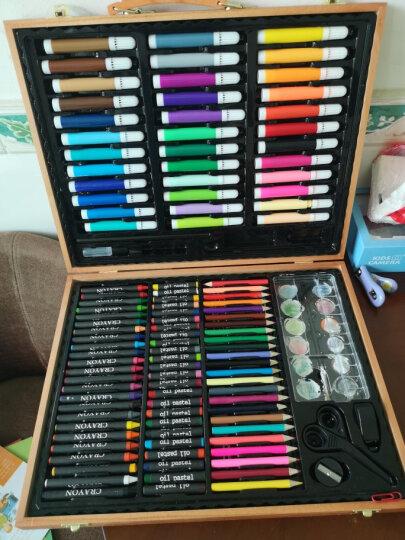 乐缔绘画文具画笔木盒150件套装 可水洗水彩笔蜡笔 美术画画铅笔木质礼盒装 晒单图