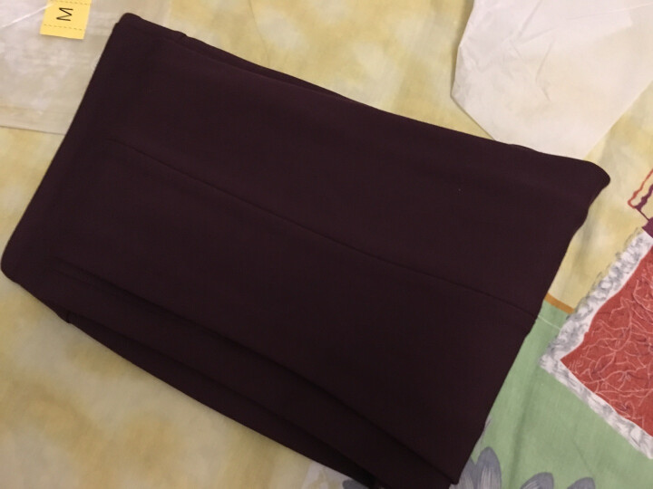 播女装罗马布修身显瘦长款紧身裤小脚裤裤装女【DDK4K139】很久以前 紫色P10 S 晒单图
