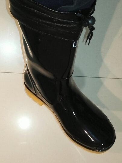 上海回力雨鞋男中高筒牛筋套鞋春秋款耐磨工作雨靴防滑可拆卸水鞋 807高筒 41 晒单图