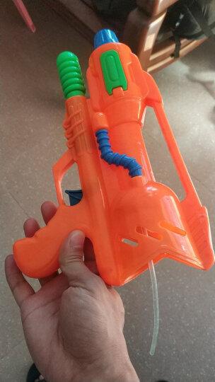 爸爸妈妈(babamama)儿童水枪玩具 夏天户外沙滩戏水 高压喷射40厘米中号抽拉式水枪 B2001 橙色 晒单图