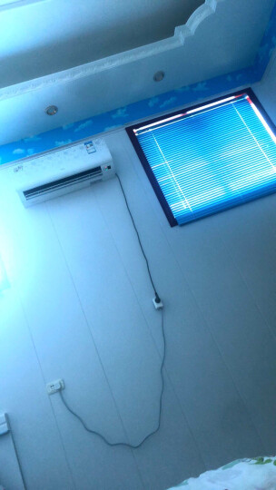CR9铝合金百叶窗帘拉绳款打孔成品窗 卫生间办公室遮阳光 现代简约厨房百页窗帘定制可选免打孔 拉丝冰峰蓝MY-BY12-L010 晒单图