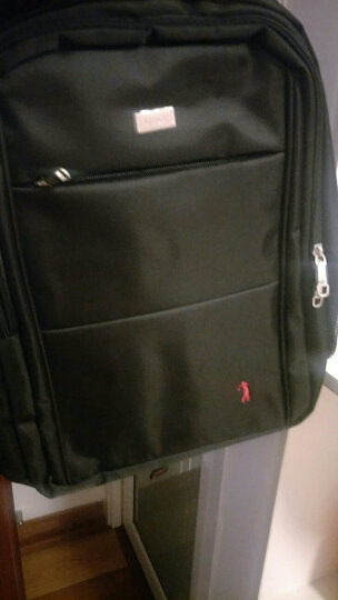 高尔夫GOLF商务休闲双肩包男大容量电脑包背包男女通用学生书包D6BV87832J黑色小号 晒单图