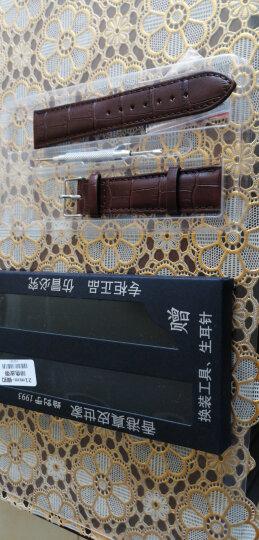 欧格利(Aurgelly)天梭表带适用手表带真皮表带男皮表带手表配件男士表带 适用多品牌配换装工具 金扣啡色皮带-18mm 晒单图