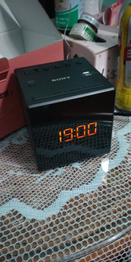 索尼(SONY) ICF-C1 FM/AM 收音机可爱嗜睡 音乐床头闹钟 贪睡回叫 懒人闹钟 白色 晒单图