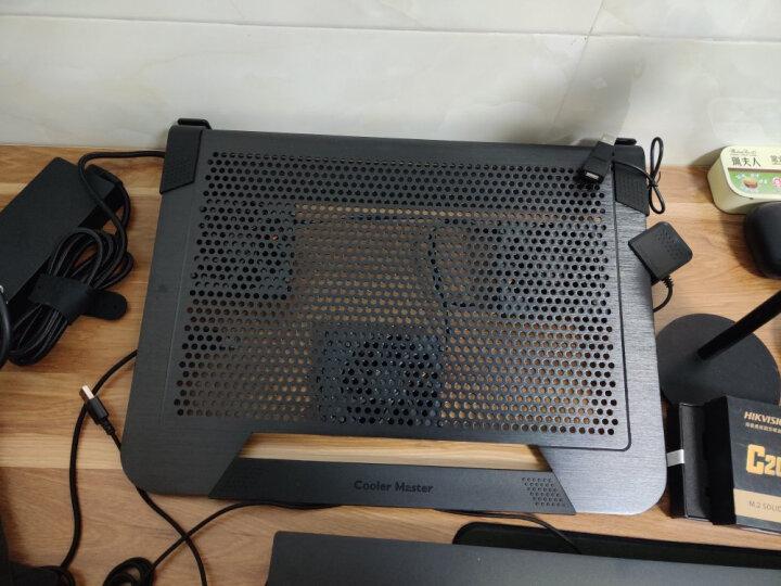 酷冷至尊(CoolerMaster) A200 笔记本散热器 (双14CM风扇/纯铝金属拉丝面板/双USB) 银色 晒单图