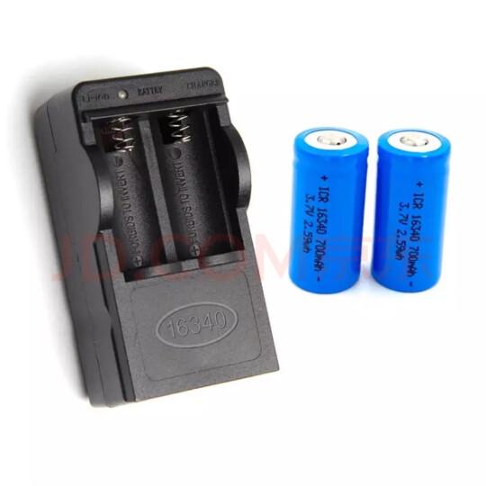 融誉 多功能充电器16340充电锂电池激光炮笔手电相机仪表电池 16340锂电池1节 晒单图