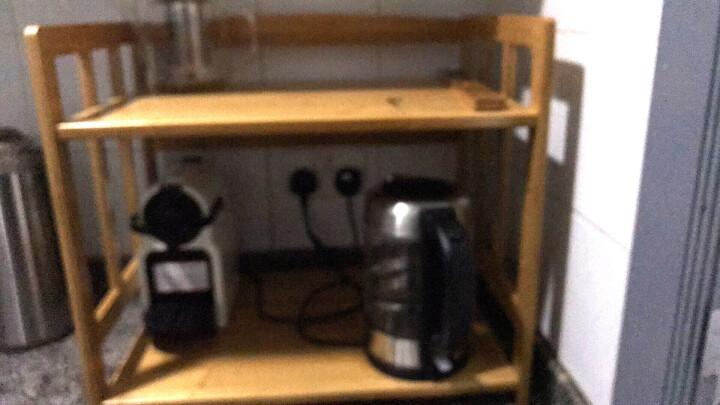 欣颖家具  楠竹厨房微波炉架置物架 多层电器烤箱架收纳架实木架子储物架 新品白色60两层 晒单图