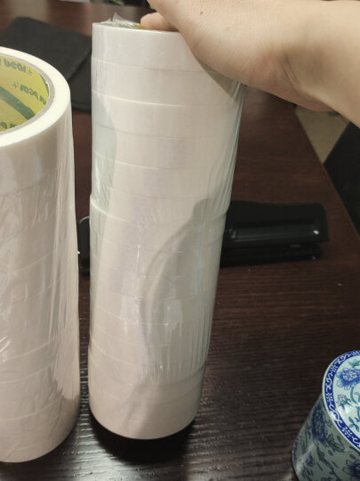 北极熊(Polar bear)高粘性棉纸双面胶带办公胶布18mm*10y(9.1米)16卷 DS-1816 晒单图