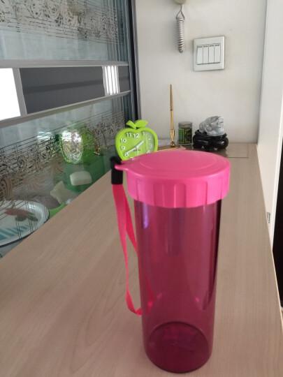 特百惠(Tupperware)莹彩430ML塑料杯 随心运动防漏水杯子带拎绳香瓜绿 晒单图
