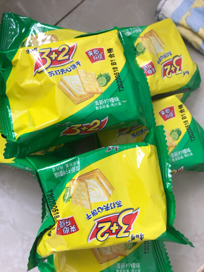 康师傅 3+2苏打夹心饼干蛋糕营养早餐办公室休闲零食小吃果香蓝莓500g 晒单图