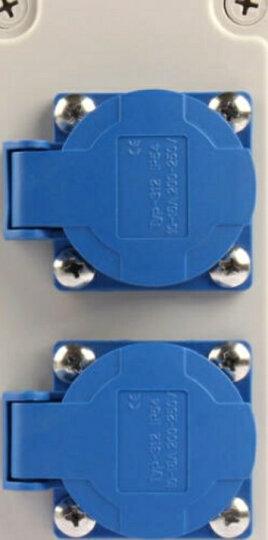 FeeDaa 多功能户外防水防雨插座盒工业塑料插座箱3孔10A 家用防水插座接线板 防水插座盒二位 晒单图